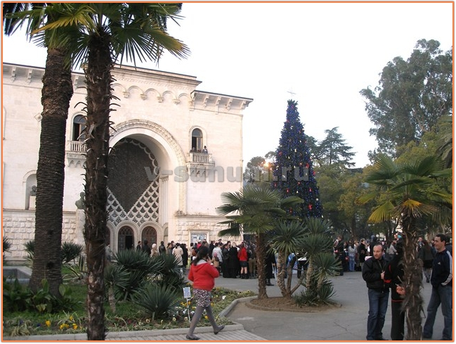 Абхазия, зима, Новый Год.