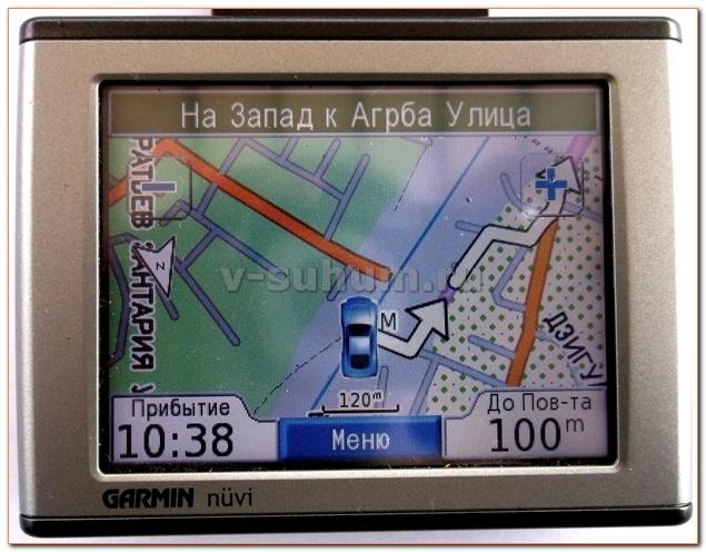 Навигационная карта Абхазии