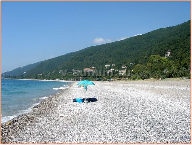 Пляж г.Гагра