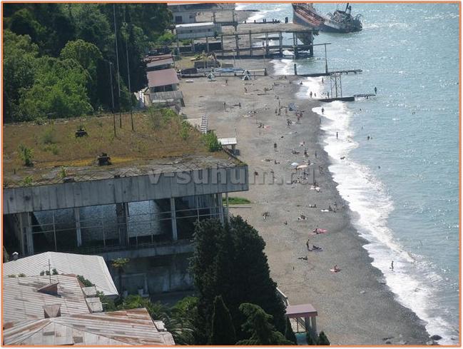 """Пляжи Абхазии. Пляж санатория """"Сухум"""" МВО"""