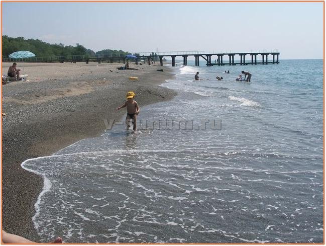 Пляжи Абхазии. Сухум. Пляж Синоп.