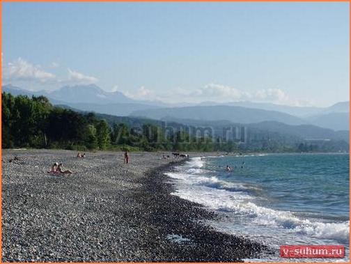Агудзера. Пляж.