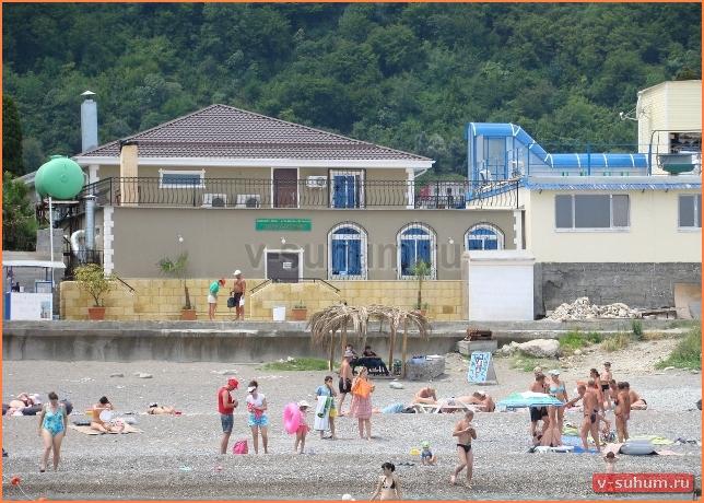 Курорты Абхазии Гагры пляжи